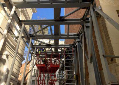 Estructura metálica, Fundación Norman Foster, Madrid