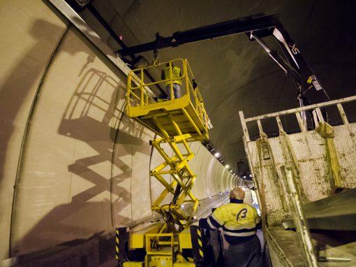 Refuerzo en túnel El Pardo, autovía M-40