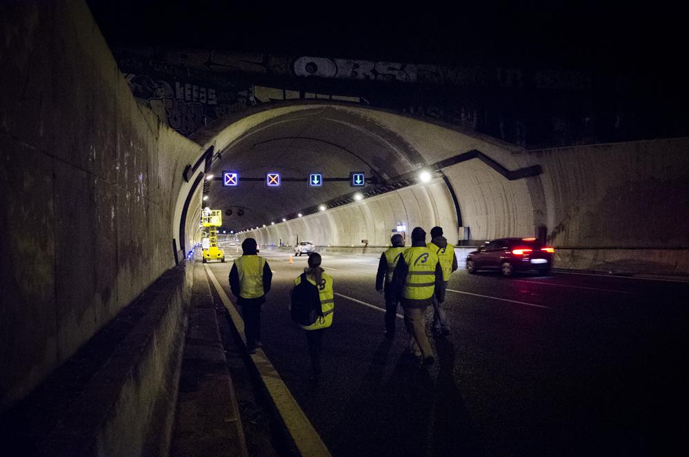Betazul refuerza el túnel de El Pardo