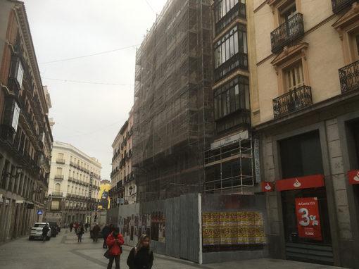Rehabilitación integral de dos edificios para Mango en la Calle Preciados de Madrid